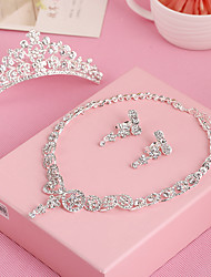 cheap -Women's Rhinestone Jewelry Set - Others Silver