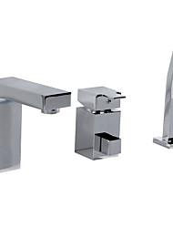 Недорогие -три отверстия с одной стороны ванной кран
