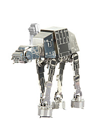 cheap -3D Puzzles Jigsaw Puzzle Metal Puzzles Imperial Walker 3D DIY Metal Gift