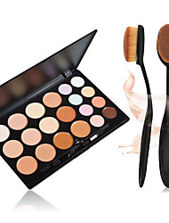 20 colori tavolozza contorno crema per il viso trucco correttore + + 1pcs masterclass pennello trucco fondazione ovale