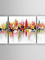 Handpainted Oil Painting New York City Picture American Style Wall Art Gift With Stretched Frame