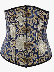 YUIYE® Women Blue Sexy Gothic Corsets Waist Training Corsets And Bustiers Espartilho Waist Cincher Underbust Corset 2XL