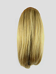 10 inch Blonde Clip In Curly Ponytails Bear Claw/Jaw Clip Synthetic Hair Piece Hair Extension