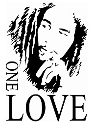 cheap -8143 BOB MARLEY ONE LOVE Wall Decals English Proverbs Stickers Living Room Backdrop Removeable the Wallpaper