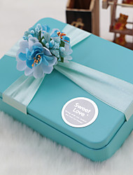 6 Piece/Set Favor Holder-Cuboid Metal Gift Boxes Non-personalised