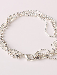 cheap -Others Imitation Diamond Anklet - Women's Silver Unique Design / Multi Layer / Fashion Anklet For Christmas Gifts / Party / Daily