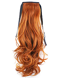 cheap -Red Length 50CM Factory Direct Sale Bind Type Curl Horsetail Hair Ponytail(Color 119)