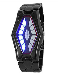 cheap -Men's Women's Couple's Wrist Watch Digital 30 m Water Resistant / Water Proof Creative LED Alloy Band Digital Fashion Unique Creative Watch Black / Silver - Silver Black / Red Black / Blue