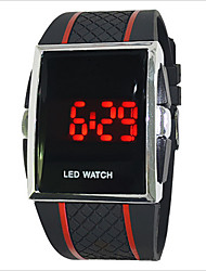 cheap -Men's Women's Couple's Sport Watch Digital 30 m Touch Screen LED PU Band Digital Charm Black / White / Red - White Black Black / Red One Year Battery Life / SODA AG4