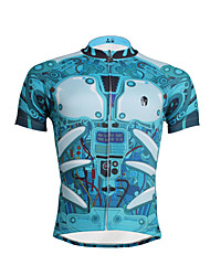 ILPALADINO Cycling Jersey Men's Short Sleeves Bike Jersey Top Quick Dry Ultraviolet Resistant Breathable Soft Sweat-wicking Compression