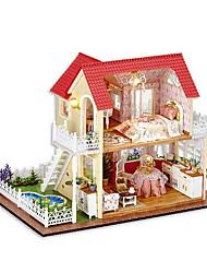 Недорогие -Чи весело дом поделки хижина изба принцесса рука собрана модель дом творческие подарки отправлять девочек день подарок