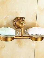 Недорогие -Держатель для зубных щеток / Гаджет для ванной Античная латунь Крепление на стену 8.3*3.1*4.5 inch Медь Античный