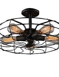 cheap -Loft Vintage Creative Lighting Lamps American Country Style Minimalist Personality Iron Industrial Fan Chandelier