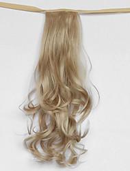 onda de agua gris plata tipo vendaje sintético peluca de pelo cola de caballo (color 22)