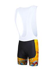 baratos -ILPALADINO Homens Bermudas Bretelle Moto Calções Bibes / Calças Tapete 3D, Secagem Rápida, A Prova de Vento Moderno Lycra Roupa de