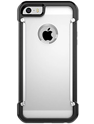 cheap -Hard PC + TPU Phone Cases Transparent Clear Cover For iPhone SE/5s/5/6/6S/6 Plus/6S Plus (Assorted Colors)