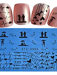 1pcs  New Nails Art  Lace Sticker Colorful Image Design Manicure Nail Art Tips STZ-V001-005