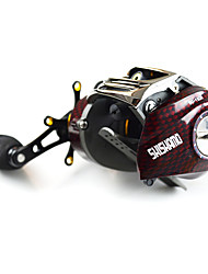cheap -Fishing Reel Baitcasting Reels 6.3:1 Gear Ratio+18 Ball Bearings Left-handed Right-handed Bait Casting Lure Fishing