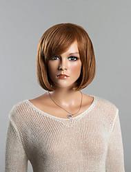 Недорогие -прямые светло-каштановый популярный боб человека парики