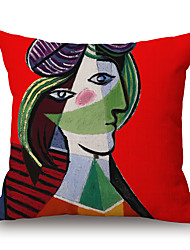 cheap -pcs Cotton/Linen Pillow Case, Graphic Prints Textured Novelty Casual Modern/Contemporary