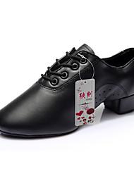baratos -Homens Sapatos de Dança Latina / Sapatos de Ensaio Courino Salto Cadarço Salto Robusto Não Personalizável Sapatos de Dança / Espetáculo
