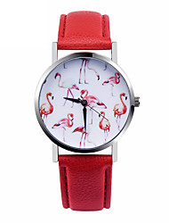 cheap -Flamingo Watch Women Watches Leather Unique Jewelry Accessories Gift Idea Spring Unique Custom Ladies Birds Trendy Strap Watch