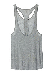 cheap -Women's Racerback Yoga Top - White, Grey Sports Tank Top / Top Running, Fitness, Gym Sleeveless Activewear Breathable, Soft Stretchy