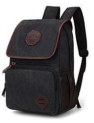 cheap -Unisex Women Bags Canvas School Bag for Casual Sports Outdoor Summer All Seasons Black Brown Khaki