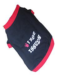 Cane T-shirt Abbigliamento per cani Traspirante Caratteri Lettere & Numeri Nero/Rosso Costume Per animali domestici