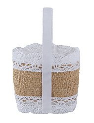 cheap -Basket Jute Favor Holder With Favor Bags Favor Tins and Pails-6