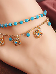cheap -Anklet - Flower Fashion Gold For Daily / Casual / Women's