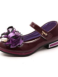 cheap -Girls' Shoes Patent Leather Spring / Summer / Fall Comfort / Light Up Shoes Heels Bowknot for Red / Blue / Pink / Wedding / Party & Evening