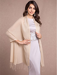Sleeveless Cotton Wedding Party Evening Casual Women's Wrap With Tassels Shawls