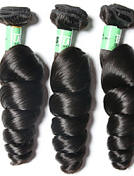 cheap -Brazilian Hair Loose Wave Human Hair Weaves 3pcs Soft Natural Color Hair Weaves Daily