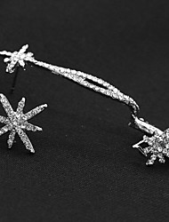 cheap -Women's Mismatched Ear Cuff / Earrings - Rhinestone Flower, Snowflake Vintage, Fashion Silver For Party / Daily / Casual