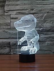 Недорогие -интересная форма динозавр 3D LED ночные огни настольная лампа в качестве подарка детей изменения цвета ночной свет