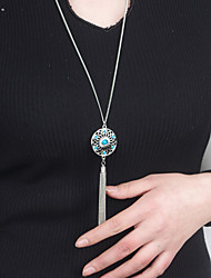 cheap -Women's Cute Pendant Necklace  -  Tassel Vintage Party Silver Necklace For Party Daily Casual