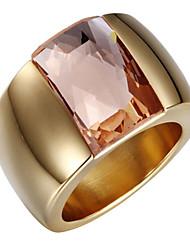 preiswerte -Damen Niedlich / bezaubernd Zirkon / Kubikzirkonia / 18K Gold Bandring - Luxus / Retro / Party Silber / Golden Ring Für Hochzeit / Party