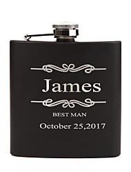 cheap -Personalized Stainless Steel Barware & Flasks Hip Flasks Bride Groom Bridesmaid Groomsman Couple Parents Wedding Birthday Valentine
