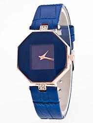 Women's Dress Watch Fashion Watch Digital Stopwatch Leather Band Vintage Black White Blue Red Purple
