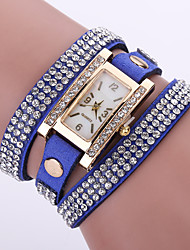 Жен. Модные часы Наручные часы Часы-браслет Кварцевый / Кожа Группа Цветы Богемные Черный Белый Синий Красный Розовый Фиолетовый