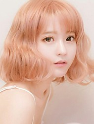 billige -Syntetiske parykker Krøllet Syntetisk hår Paryk Dame Rose Guld