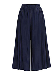 Women's Wide Leg Solid Loose Pleated Casual Fashion Wide Leg Pants,Street chic