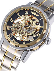 cheap -WINNER® Men's Watch Automatic Self-winding Hollow Engraving Mechanical Golden Skeleton Stainless Steel Cool Watch Unique Watch Fashion Watch