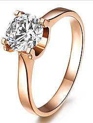 Real Silver Solitaire Engagement Ring for Women 1CT 18K Rose Gold Plated SONA Diamond Jewelry Female Sterling Silver 925Imitation Diamond Birthstone