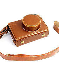 cheap -Fujifilm Camera X100s/X100t Leather Protective Half Case/Bag
