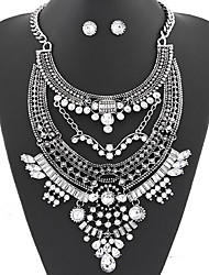 cheap -Women's Jewelry Set Earrings / Necklace - Luxury / Party / Work White / Gray Jewelry Set / Necklace / Earrings For Party / Daily