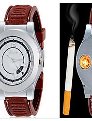 cheap -Men's Wrist Watch Creative Alloy Band Casual / Fashion Black / Brown