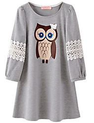Casual/Daily Simple Spring Summer Fall Blouse,Animal Print Round Neck Cotton Medium
