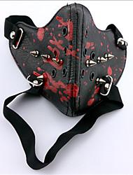 preiswerte -Maske Inspiriert von Tokyo Ghoul Ken Kaneki Anime Cosplay Accessoires Maske Schwarz Leder Mann